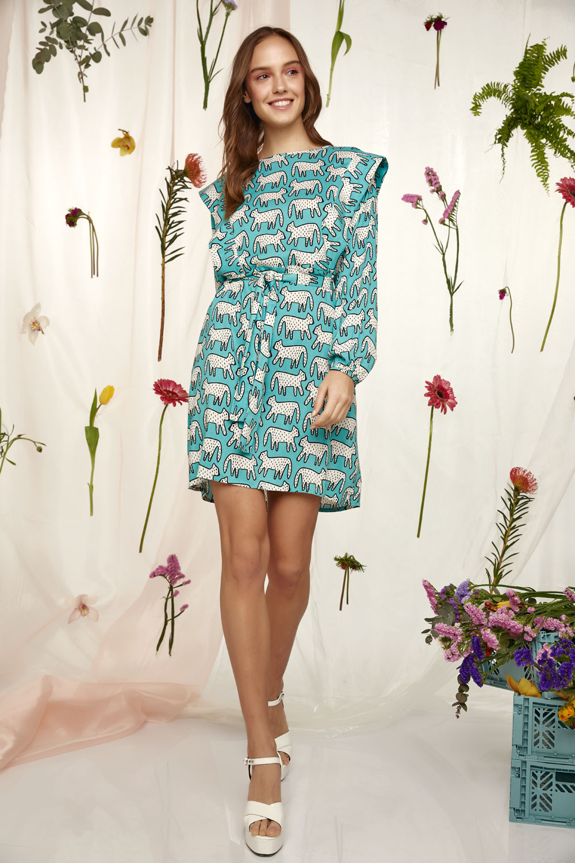 Dalmatian Print Babydoll dress
