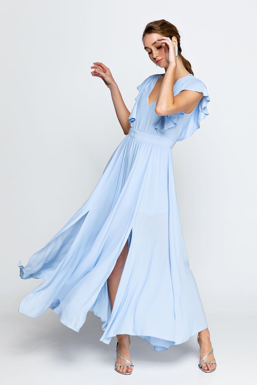 Φόρεμα μάξι με σχεδιο στην πλάτη