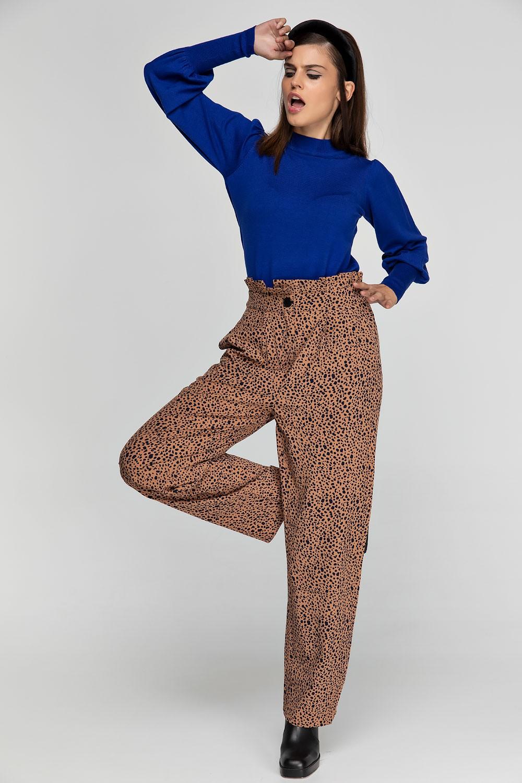 Παντελόνι με print και λάστιχο