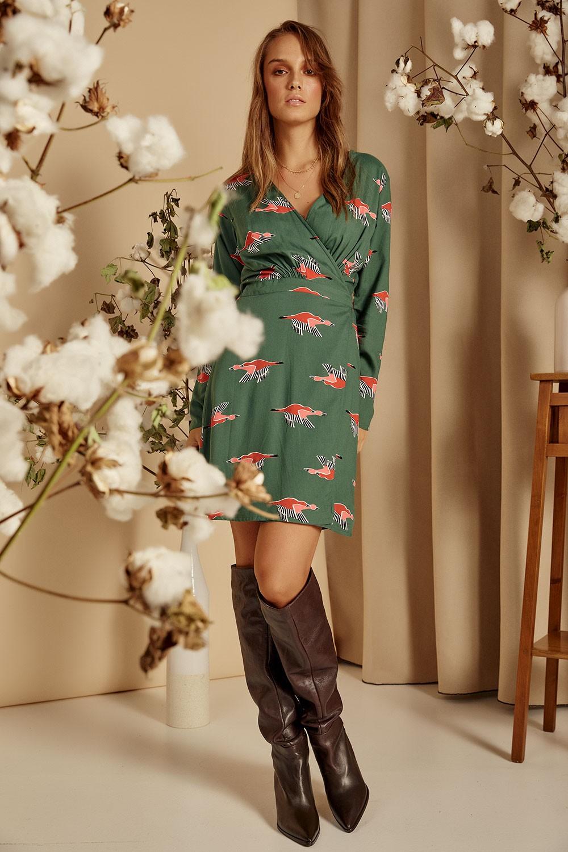 Κρουαζέ φόρεμα με print