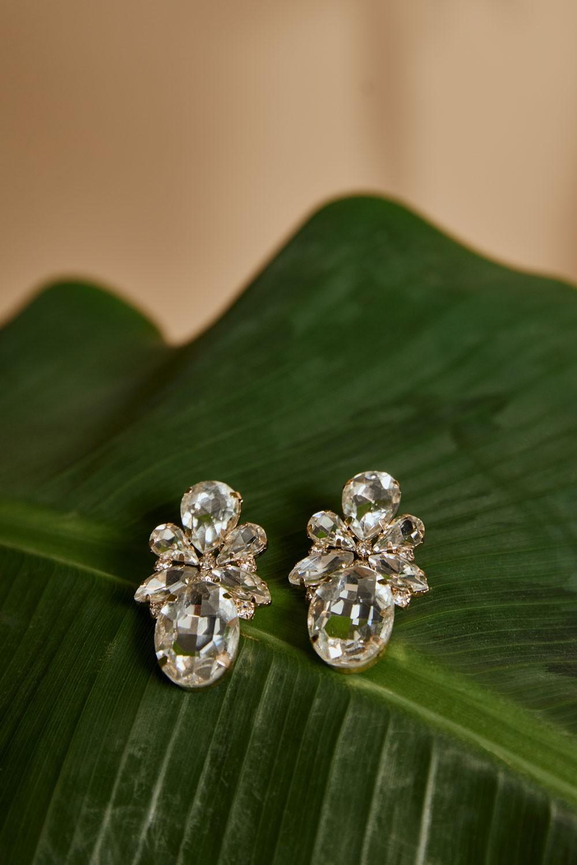 Σκουλαρίκια με διάφανες πέτρες
