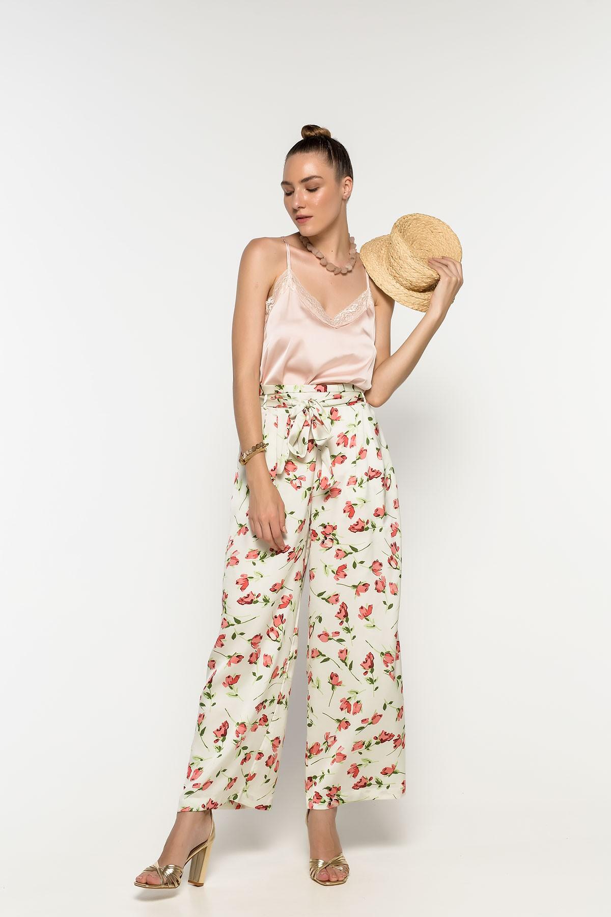 Παντελόνα φλοράλ
