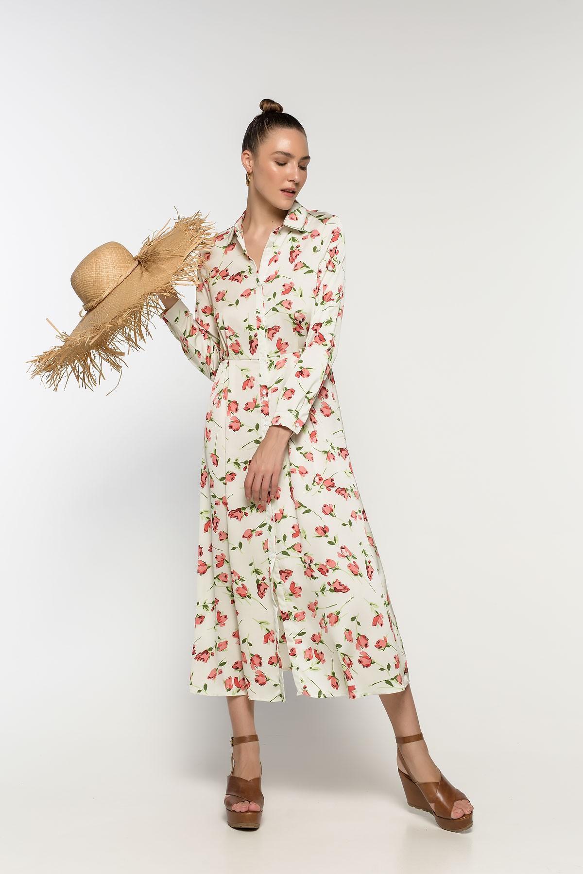 1fc8fe2f5fdb Φόρεμα-πουκαμισα φλοραλ - Bettina Stores Bettina Stores
