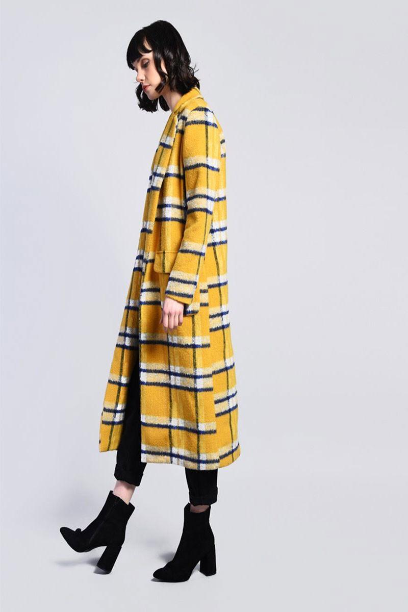 Παλτό με καρό σχέδιο