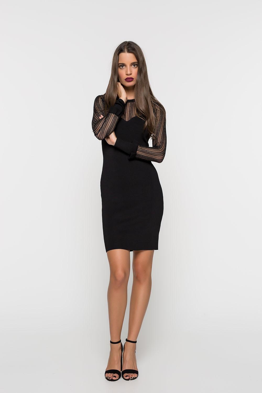 Φόρεμα ριπ με διαφάνεια