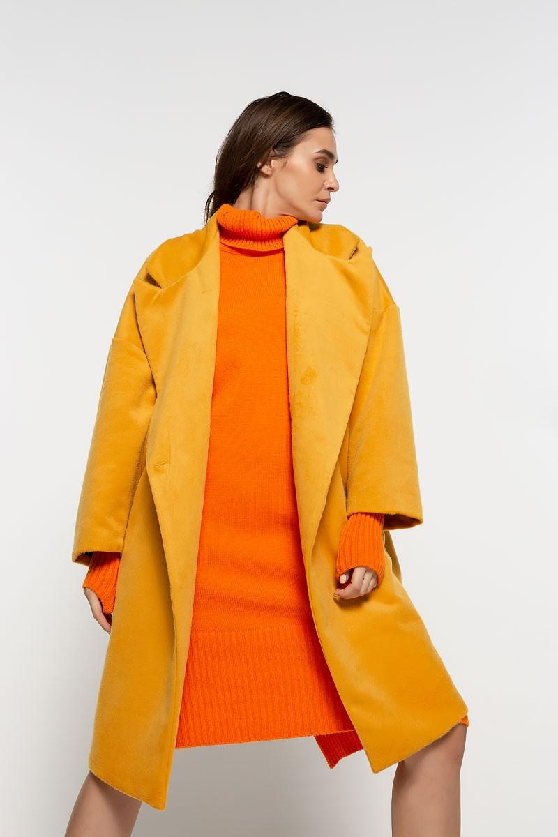 Oversized παλτό με κουμπί