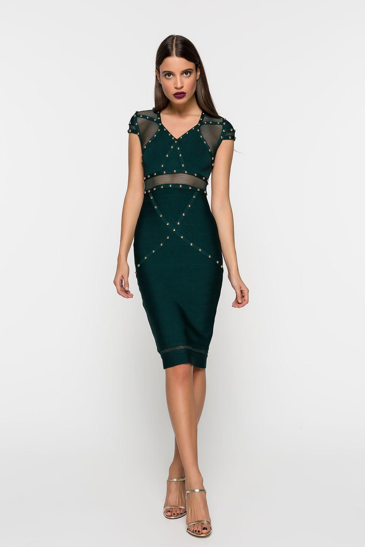 4707a5eb8fee Φόρεμα με τρουξ με V - Bettina Stores Bettina Stores