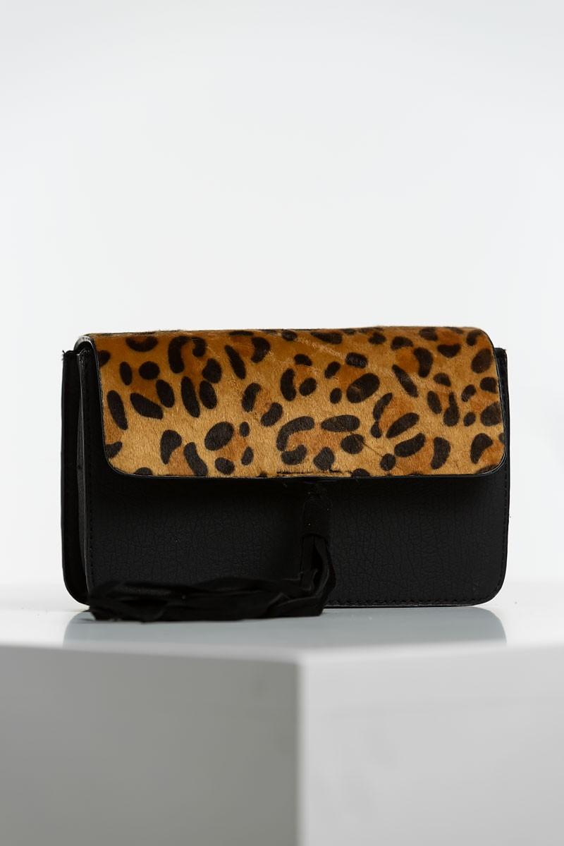 Black Faux leopard