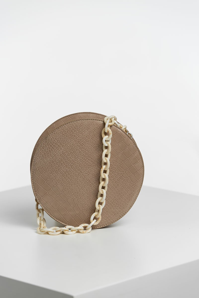Taupe Round bag