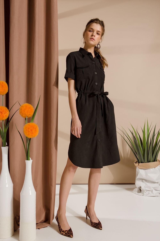 Φόρεμα button down με ζώνη