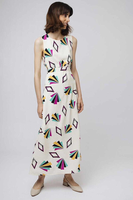 Geometrical maxi dress