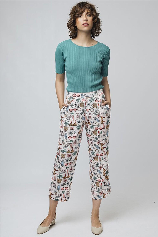 Παντελόνι με candy print