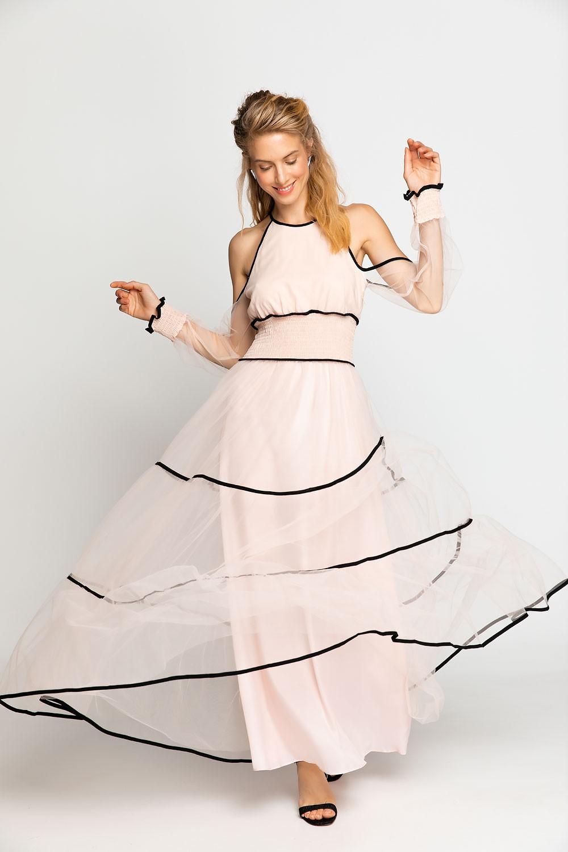 859353ee0cc5 Φόρεμα μαξι με διαφάνεια - Bettina Stores Bettina Stores