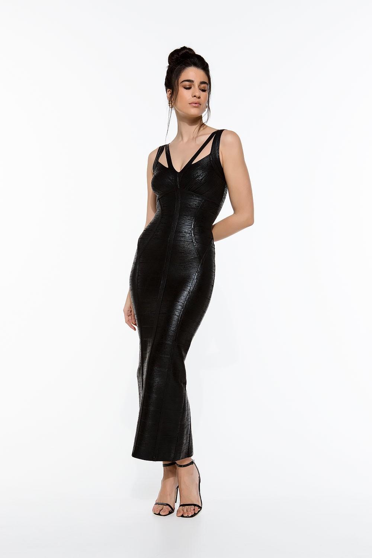 Maxi φόρεμα μεταλλιζέ