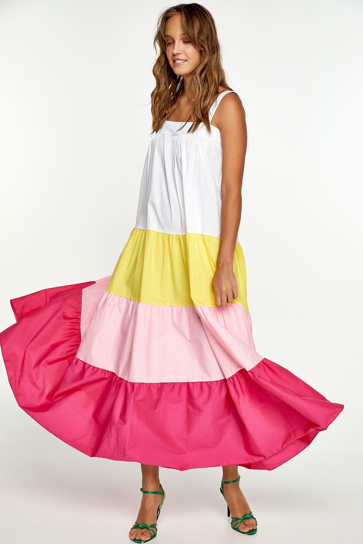 Μάξι φόρεμα με χρώματα