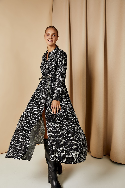 Maxi φόρεμα με print