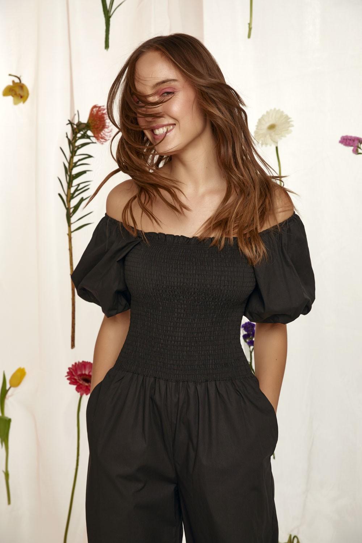 Ολόσωμη φόρμα με λάστιχο από 100% βαμβάκι
