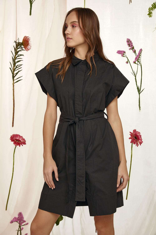 100% Βαμβακερό φόρεμα με ζώνη