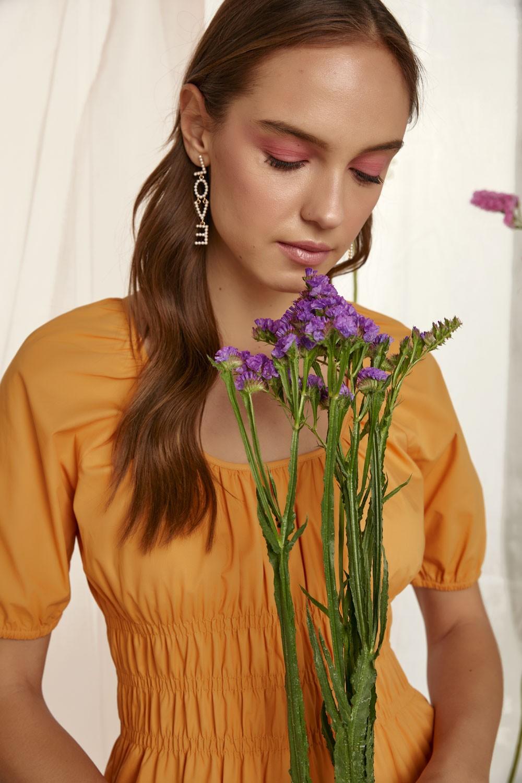 100% Βαμβακερό φόρεμα με λάστιχο στη μέση