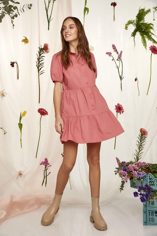 100% Βαμβακερό Button down φόρεμα