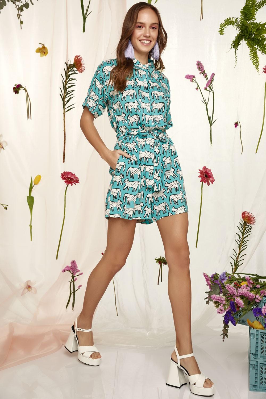Dalmatian Print jumpsuit