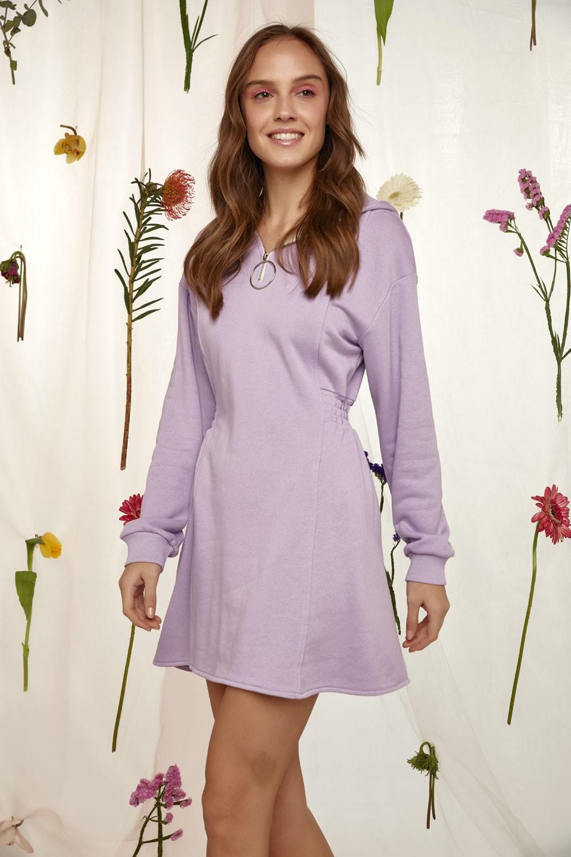 Φόρεμα φούτερ με λάστιχο