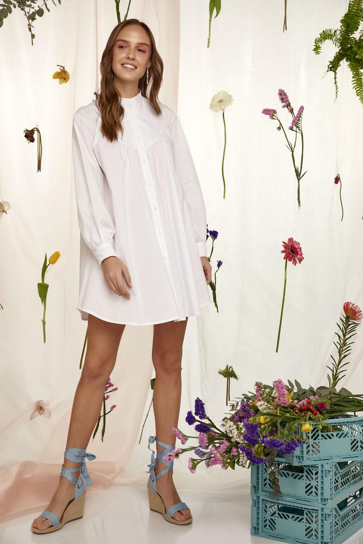 Φόρεμα από 100% βαμβάκι με ζώνη