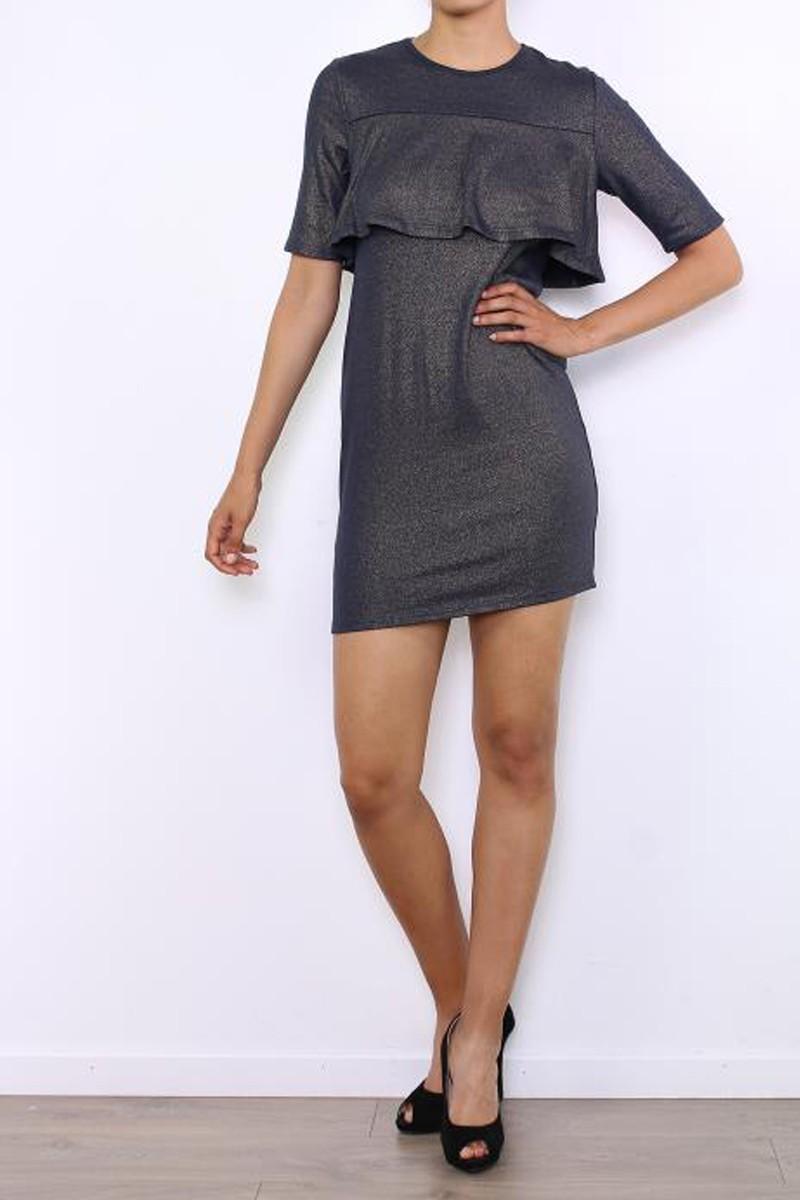 Φόρεμα lurex 3/4 μανίκι