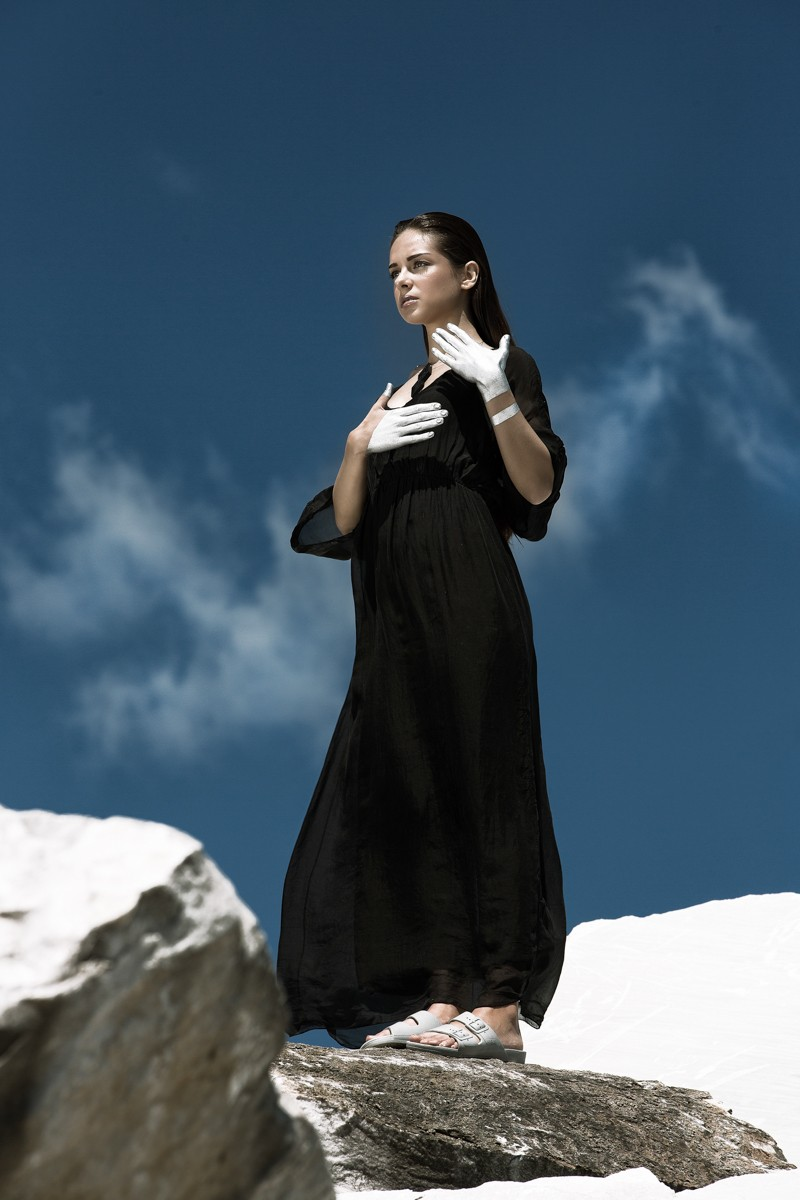 Μάξι φόρεμα μανίκια