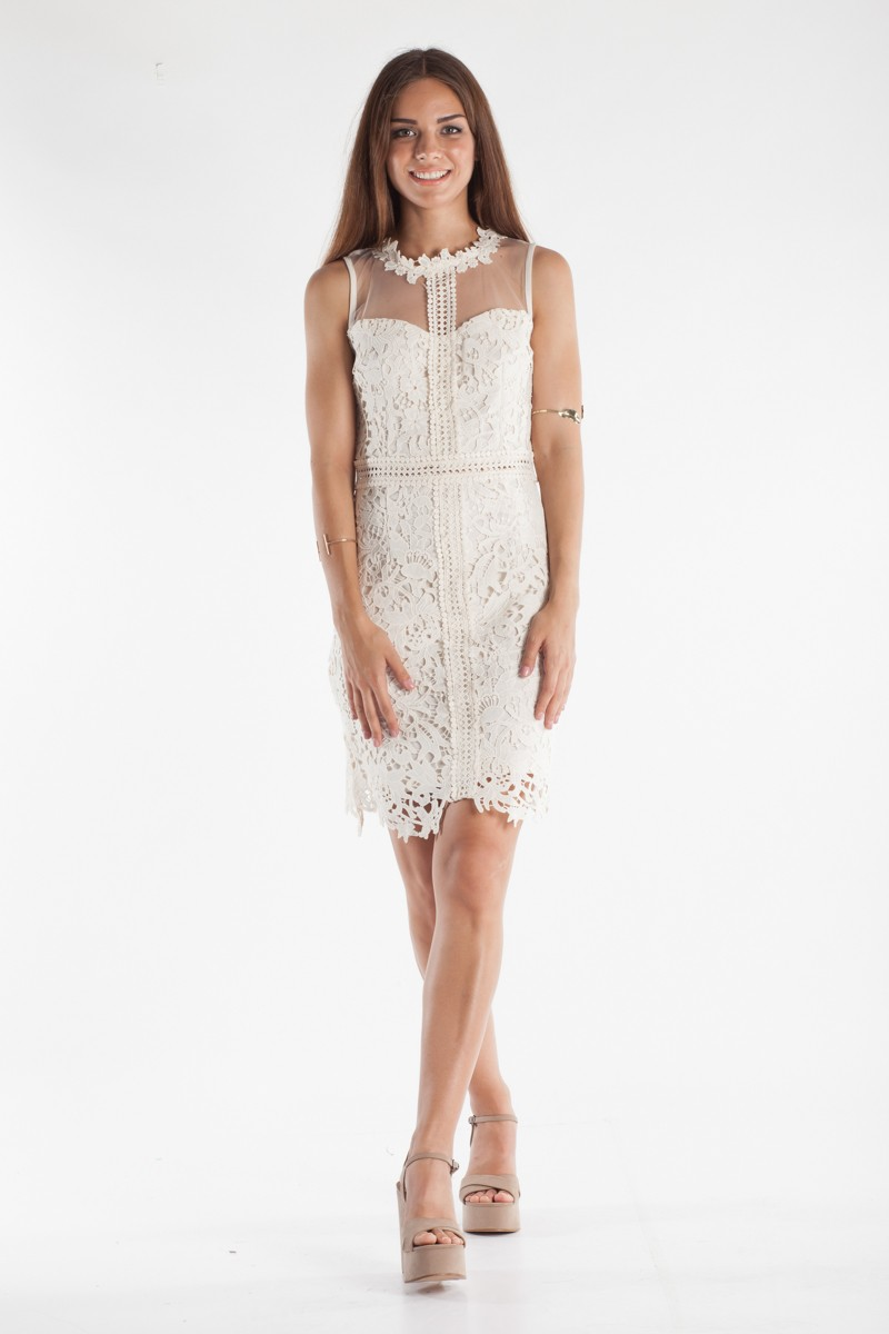 Φόρεμα με δαντέλα και διαφάνεια - Bettina Stores Bettina Stores 8baea56b401