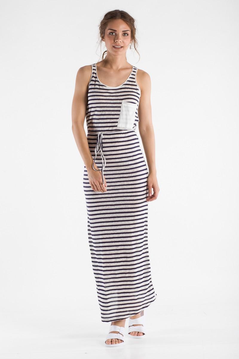 d85c183c3da6 Ριγέ μαξι φόρεμα - Bettina Stores Bettina Stores
