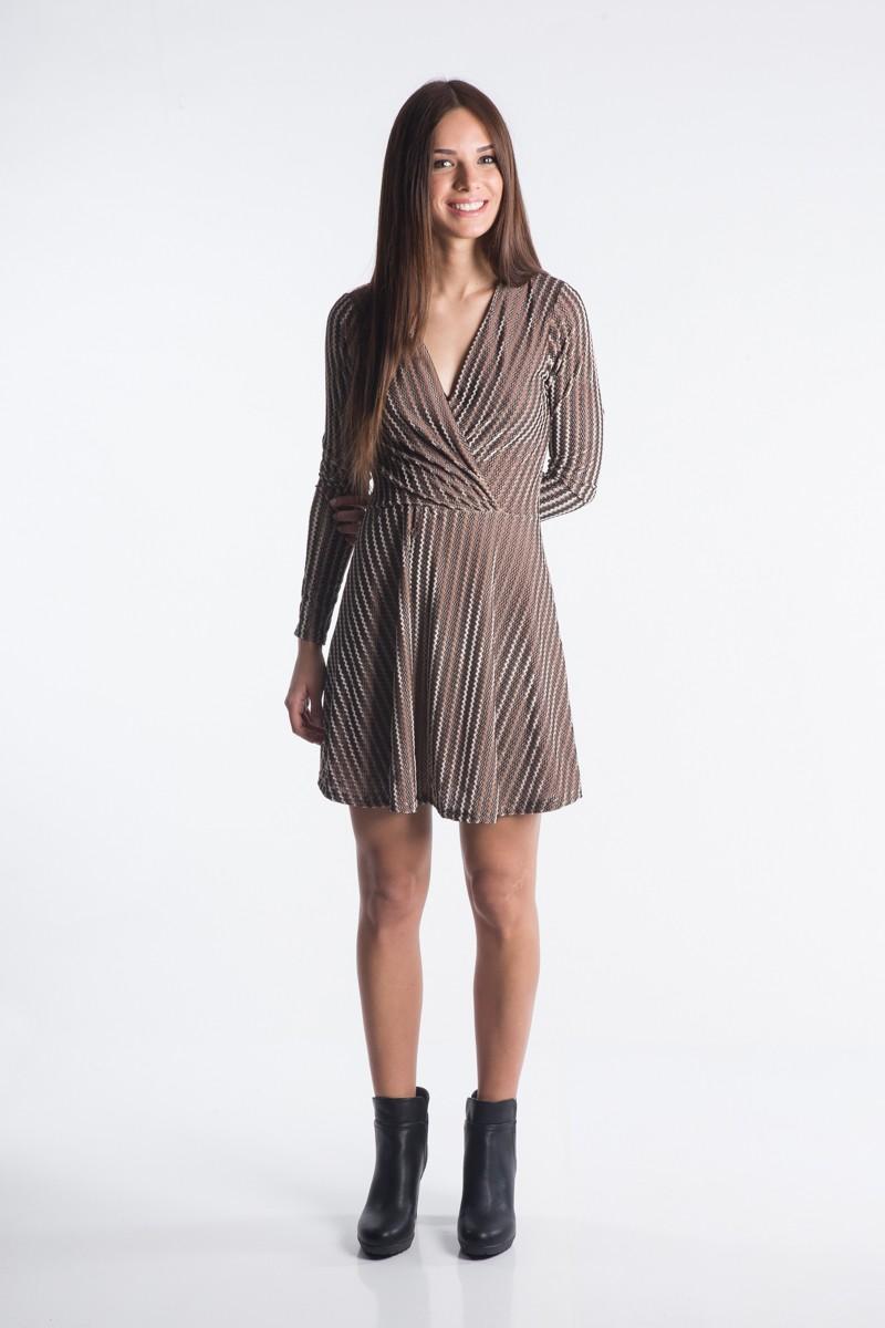 59a268a85979 Βελούδινο κρουαζέ φόρεμα - Bettina Stores Bettina Stores