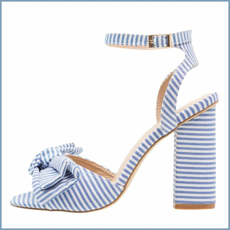 Blue stripes heel