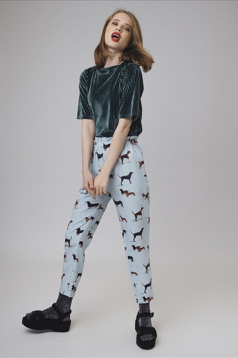 Dog Print Trousers