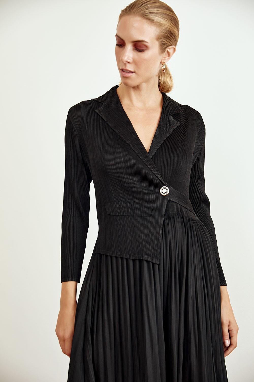 Plisse blazer-dress
