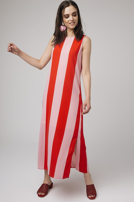 Φόρεμα μάξι με ρίγα